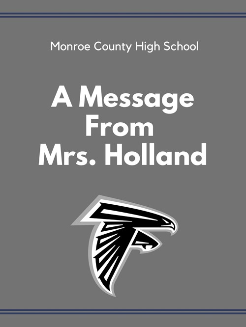 A Message from Mrs. Holland