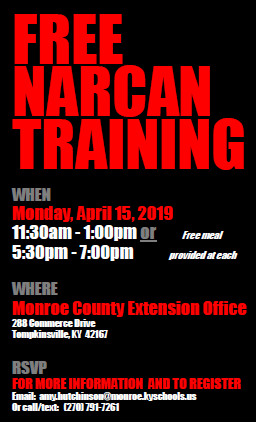 Community-Wide Narcan Training - April 15, 2019