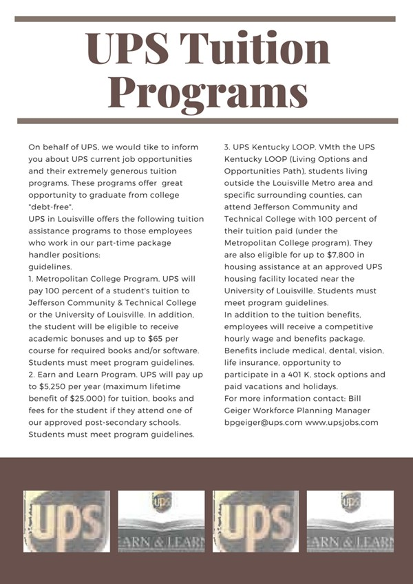 UPS Tuition Programs